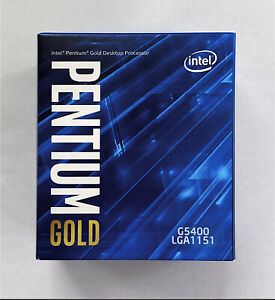 Intel Pentium Gold G5400 Dual-Core Coffee Lake Processor 3.7GHz 8.0GT//s 4MB LGA