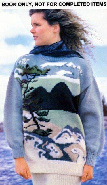 Patons O Canada Canadiana Chunky Sweaters Vintage Knitting Patterns