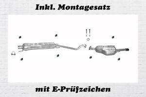 Mittelschalldämpfer Opel Astra G 1.6 1.8 2.2 Cabrio Coupe Auspuff Montagesatz