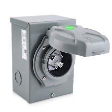 30 Amp Generator Power Inlet Box Weatherprooffor 4 Prong Generator Cord Outdoor