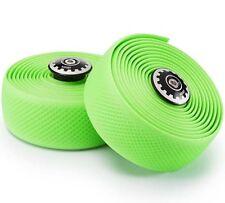 Widget Road Racing Bike Bicycle Silicone Drop Handlebar Grip Wrap Tape Green