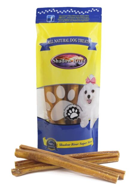 Shadow River 12 Inch JUMBO All Natural Premium Beef Bully Sticks Dog Chew Treats