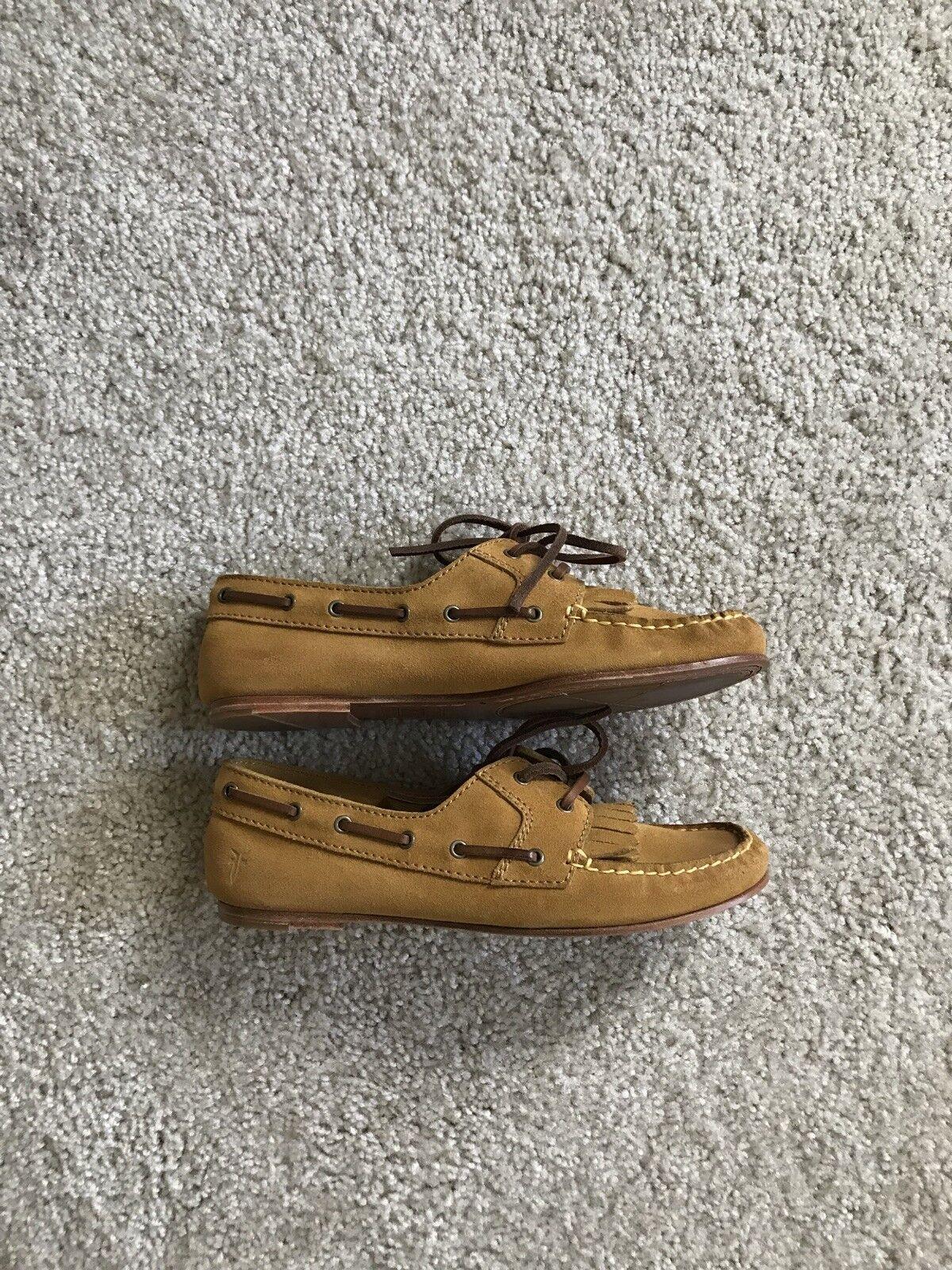 Frye Women Women Women Mustard Yellow Suede Loafers, Size 7 c5bc73