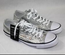 Converse Chuck Taylor All Star Ox Silver Glitter 135851C Unisex Men 11 Women  13 923b713ed