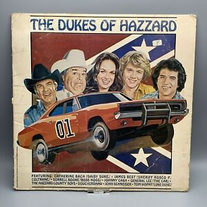 Vintage-1981-Dukes-Of-Hazzard-Vinyl-LP-Record-Album-Johnny-Cash-General-Lee
