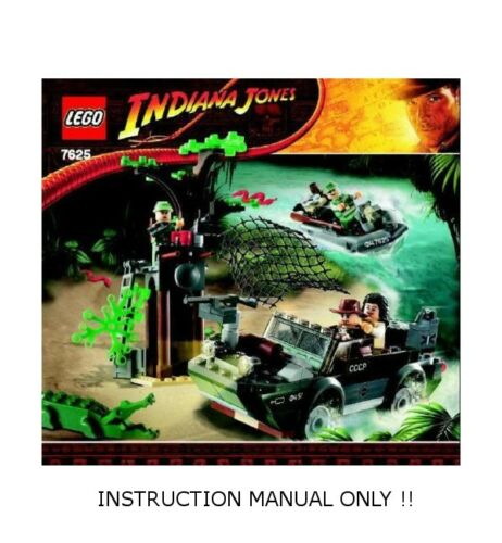 INDIANA JONES INSTRUCTION MANUAL ONLY River Chase LEGO 7625