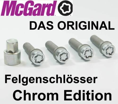 Mcgard llantas cerraduras radsicherungen plata m12x1,5x45,0mm kegelbund