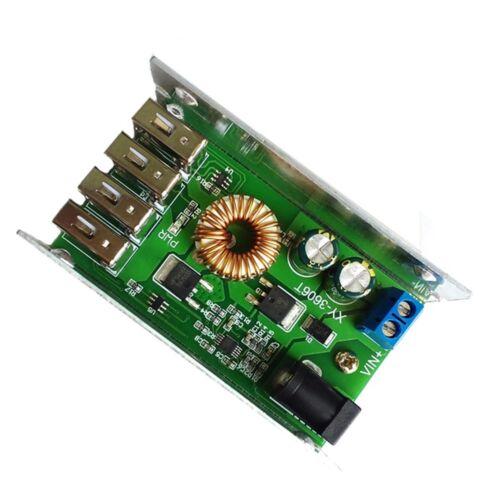 12V bis 5V 5A ED DC-DC Abstieg Modul 4 USB Leistung Bock Konverter Tafel 24V