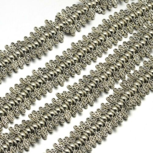"10 Strds 8/"" Tibetan Alloy Metal Beads Antique Silver Loose Spacers Pick Shapes"