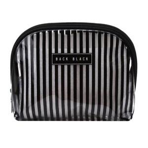 d49928f664ba Details about Women Travel Waterproof Stripes Makeup Toiletry Bags  Transparent Cosmetic Bag W