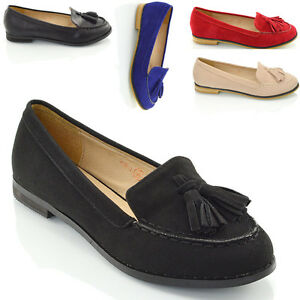 Image Is Loading New Las Tel Loafers Womens Casual Vintage Flats