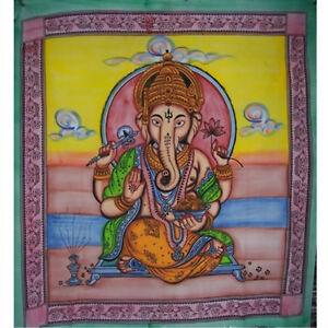 Buddha-Lakhsmi-Shiwa-Ganesha-Motive-Indische-Baumwoll-Tagesdecken-XXL-210x240-cm