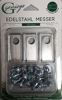 geprüfte Qualität 9x rostfreie Edelstahl Messer Klingen Honda® Miimo NEU