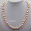 """genuine 18/""""L 9-10mm south sea pink baroque pearl necklace"""
