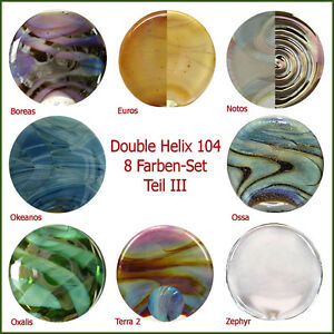 8-Farben-Set-034-DOUBLE-HELIX-GLASS-034-Teil-III-TOP-Angebot