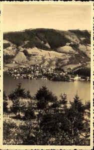 Tegernsee alte Ansichtskarte 1936 gelaufen Blick über den See auf die Stadt