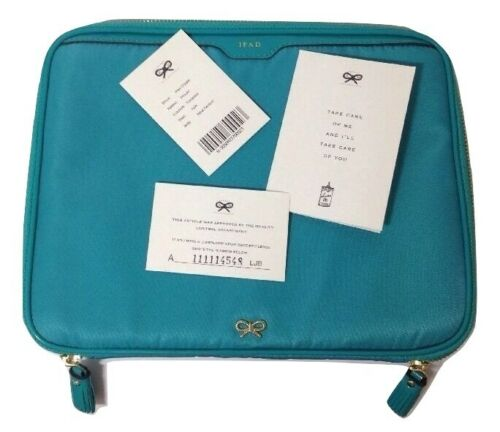 Anya Hindmarch Cover iPad Turchese Blu Nylon RRP £ 225