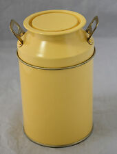 Milk Urn Style Metal Storage Jar, with lid, in Yellow. Brand New