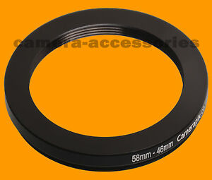 58mm to 46mm 58-46 Stepping Step Down Filter Ring Adapter 58-46mm 58mm-46mm M-F