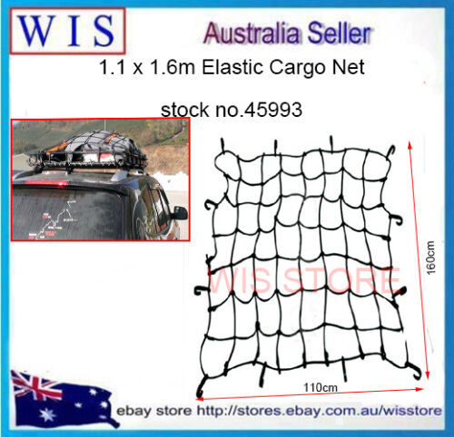 HD Roof Rack Cargo Net for Car and Suv 110 x 116cm with 18 Nylon Hooks-45993
