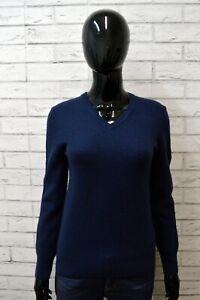 Maglione-in-Lana-Pullover-Blu-GUESS-Maglia-Taglia-Size-S-Felpa-Sweater-Woman