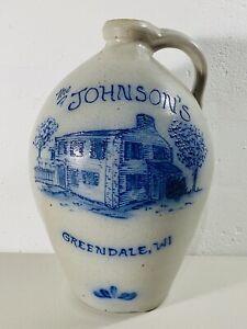 15-034-1988-Rockdale-Union-Pottery-Stoneware-Ovoid-Jug-Cobalt-Blue-Home-Wisconsin