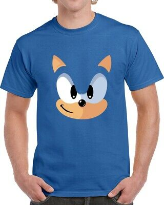 Sonic The Hedgehog Face Video Game Parody Vintage Graphic T Shirt Ebay