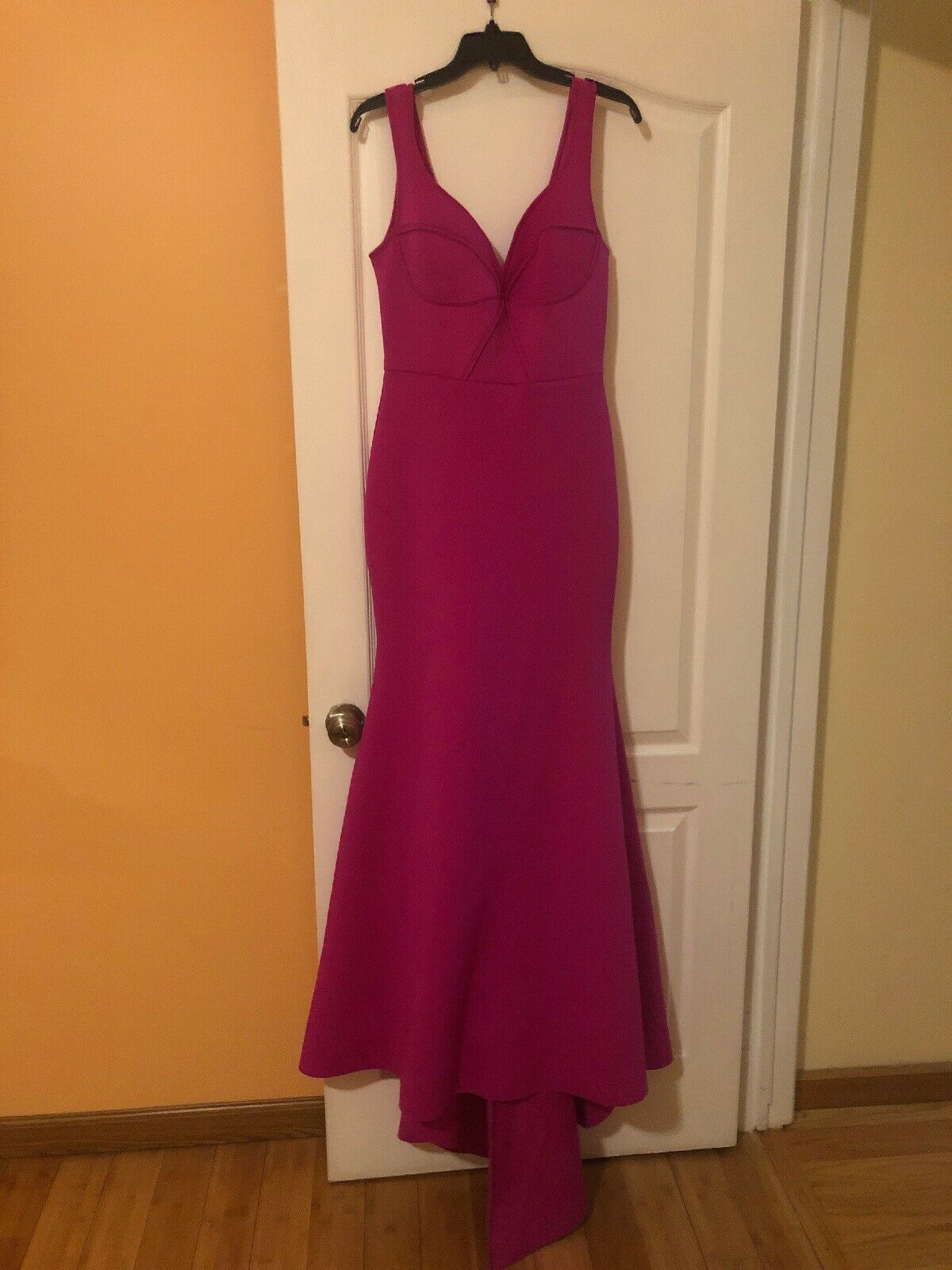 Bebe Long Dress Pink color Party Evening Size M Preowned