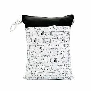 Waterproof-Double-Zip-Wet-Bag-Cute-Cats-30x40cm
