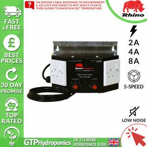 Rhino Silencieux Thermostatique Fan Controller-automatique De La Vitesse Du Ventilateur - 2 A/4 A/8 Amp-afficher Le Titre D'origine