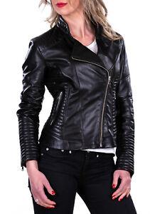 watch c5179 05acb Dettagli su Giacca Giubbotto in di Pelle Donna Women Leather Jacket Femme  Blouson en Cuir E1