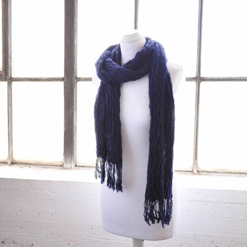 Women Crinkled Plain Scarf Elasticated Fabric Winter Warm Scarves