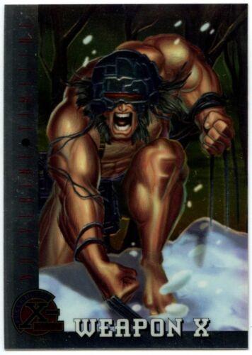 C1399 Weapon X #82 X-Men Chromium Fleer Ultra 1995 Trade Card