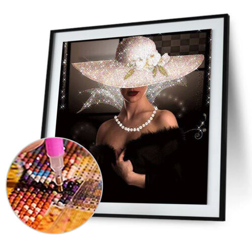 Beauty Lady 5D DIY Embroidery Diamond Painting Cross Stitch Kit Needlework $S1
