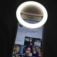 Nice Selfie LED Ring Flash Fill Light Clip Camera for iPhone Samsung HTC