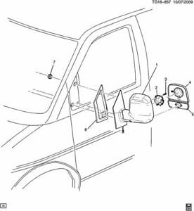 GM # 19207173  2008-17  CHEVY/GMC G VAN OUTSIDE MIRROR MOTOR * NEW / OE *