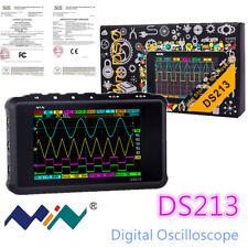 New Portable Lcd 4 Channel Digital Oscilloscope Ds213 Usb 15mhz 100msas Models