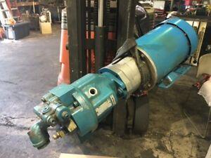 Rexroth Hydraulic Pump, A10V16DR1RS4, w/ 1.5 HP Leeson AC Motor, Used