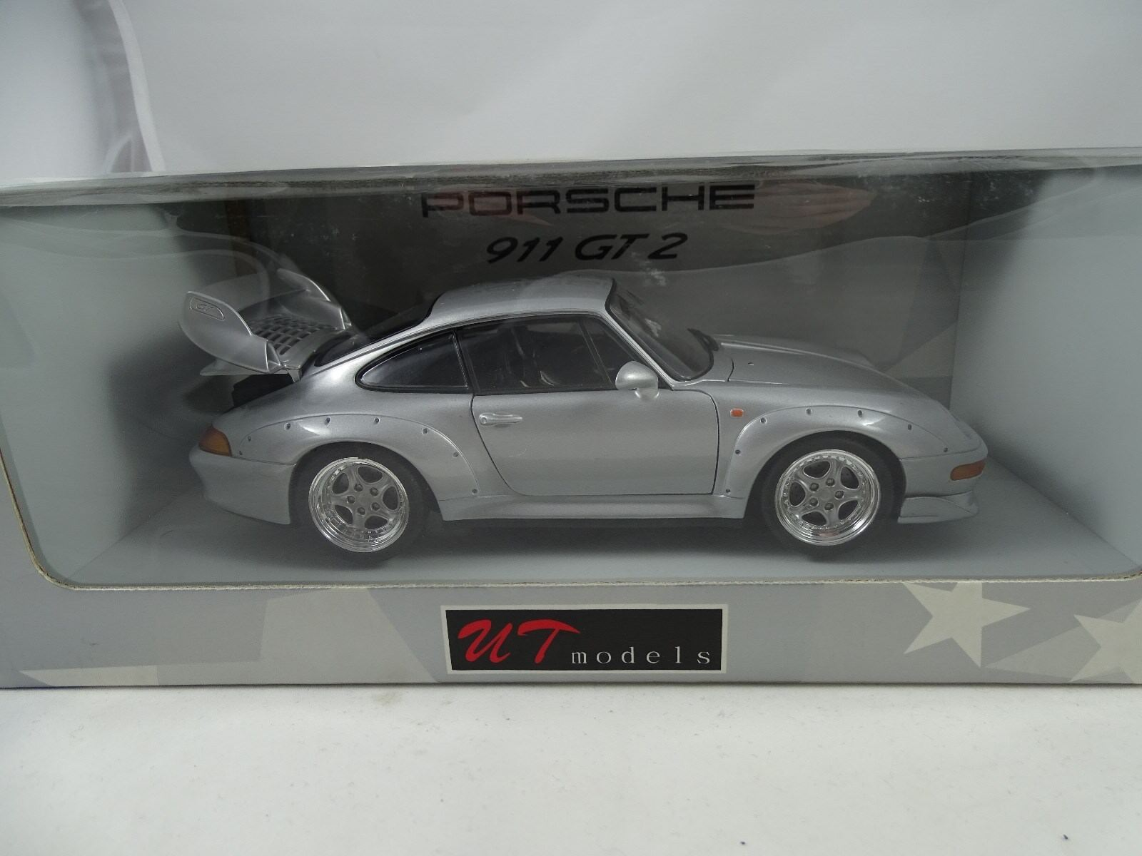 Ut / Autoart - Porsche 911 Gt 2 Plata - Rareza