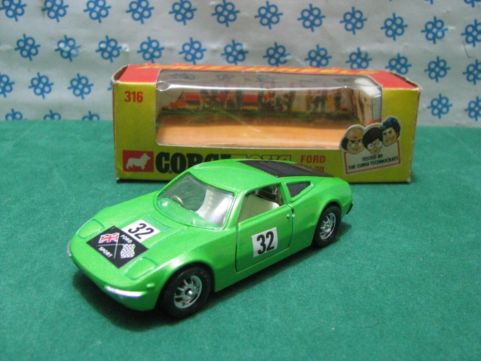 Vintage-Ford GT 70-Corgi Toys 316 MIB