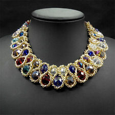 Women bib beads crystal pendant fashion statement chain chunky item 3 ladies bib beads crystal pendant fashion statement chain chunky choker necklace ladies bib beads crystal pendant fashion statement chain chunky mozeypictures Gallery