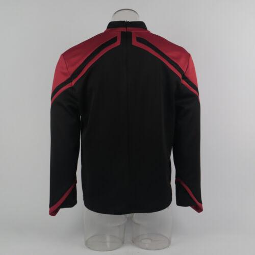 Cosplay Admiral JL Picard Uniform Startfleet Male Red Gold Blue Men Top Shirts