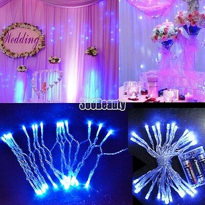 B5UT Beauty Battery Blue 3M 30 LED String Fairy Party Festival Decor Lights Lamp