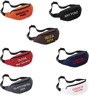 PRINTED BUM BAG PERSONALISED Fanny pack Festival MONEY BELT PURSE HIP WALLET