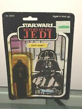 "'83  MOC  Star Wars DARTH VADER ROTJ  #38230 Kenner 4""  Figure 77 Card Back"