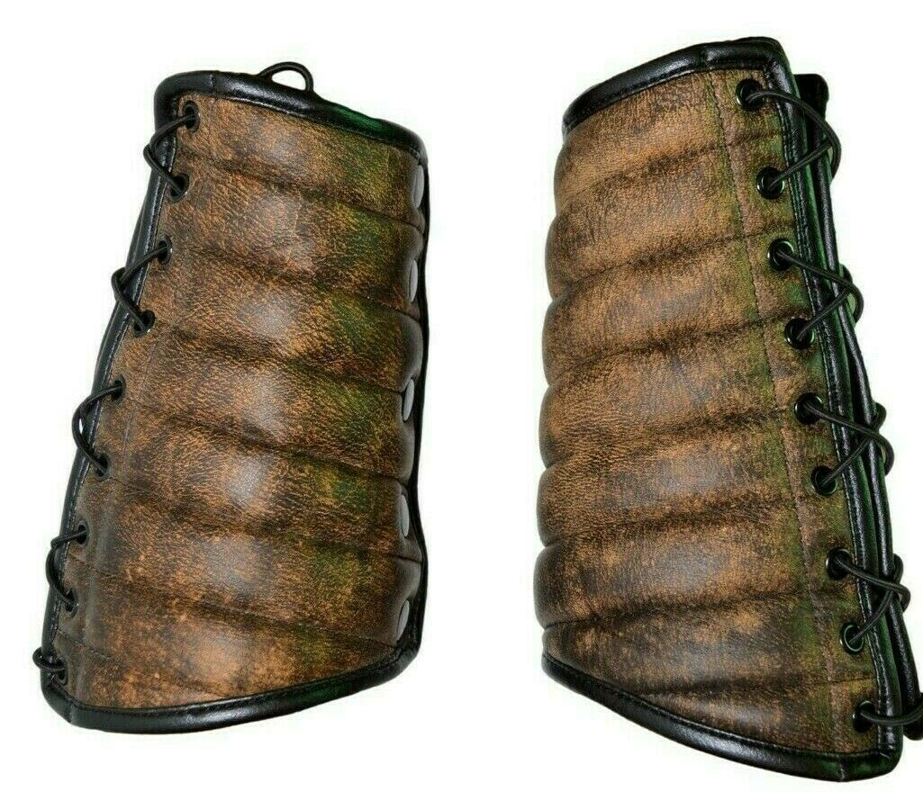 Wallet Accessory ForeArm Leather Guard Armored gladiator arm guard