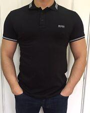 Hugo Boss Mens Polo Top Tshirt Black Size M New -Green Label///