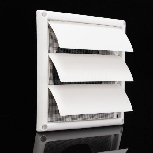 "6/"" Gravity External Shutter Wall Grille Grill Duct Air Vent Exhaust Fan 200mm"
