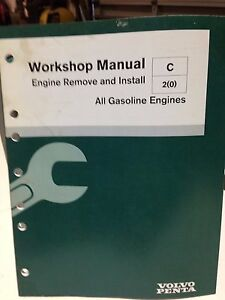 volvo penta workshop manual engine remove and install p n 7748109 rh ebay ie