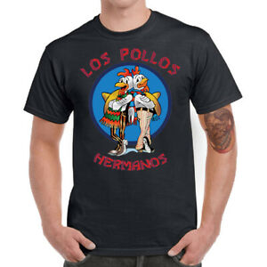 Men T-shirt Funny Los Pollos Hermanos Graphic Tee Shirt Cotton Short Sleeve Top